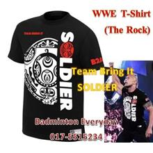 WWE WWF T Shirt  Baju (The Rock Soldier) WRESTLING GUSTI