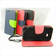 Lenovo A369 Mercury Fancy Diary Case Casing Pouch