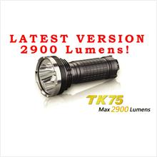 FENIX TK75 CREE XM-L2 U2 LED FLASHLIGHT ~ MAX 2900 LUMENS