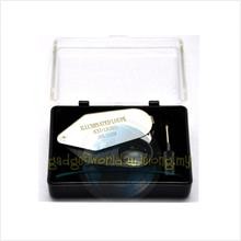 Portable Magnifying 20x Magnification with LED Light and Storage Box