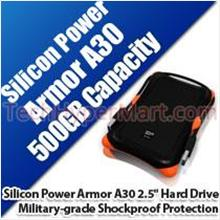 "SILICON POWER ARMOR A30 2.5"" 500GB PORTABLE HARD DRIVE"