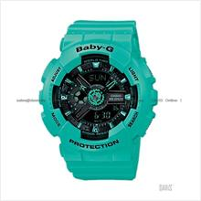 CASIO BA-111-3A Baby-G Ana-Digi multi-dimensional resin strap green