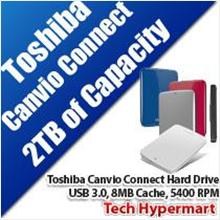 TOSHIBA CANVIO CONNECT 2TB HARD DRIVE
