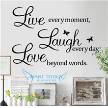 Live Love...Wall Sticker Quotes And Saying Decals Wallpaper home deco