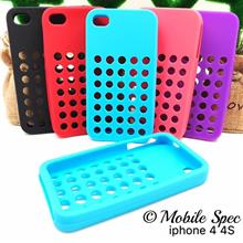 Apple iPhone 4G / 4S Home Button Silicone Soft Case Protect Phone