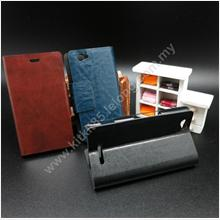 Sony Xperia M C1905 Premium Flip Leather Pouch Case