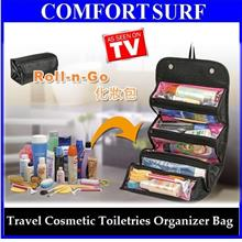 Roll N Go Travel Cosmetic Toiletries Jewelry Organize Store Bag
