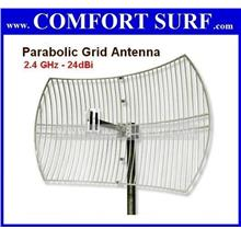 24dBi Grid Antenna Power Outdoor yagi 2.4Ghz Wifi Singal booster Free