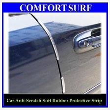 8pcs Car Side Door Protection Anti Scratch Soft Rubber Strip Protect