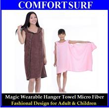 Magic Wearable Micro Fiber Hanger Bath Towel for Adults & Children