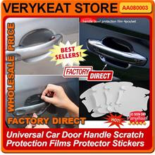 Universal Car Door Handle Scratch Protection Films Protector Stickers