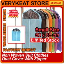 New Arrival Non Woven Suit Clothes Dust Cover With Zipper Small Size