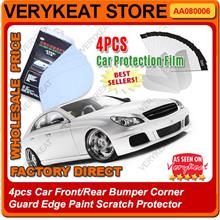 4pcs Car Bumper Paint Scratch Protector