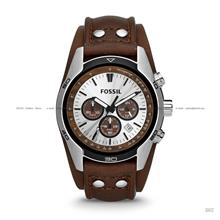 FOSSIL CH2565 Men's Analogue Coachman Chronograph Leather Strap Tan