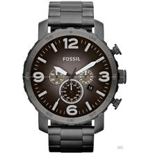 FOSSIL JR1437 Men's Analogue Nate Chrono Oversized SS Bracelet Smoke