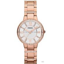 FOSSIL ES3284 Women's Analogue Virginia Glitz SS Bracelet Rose Gold