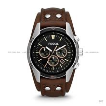 FOSSIL CH2891 Men's Analogue Coachman Chronograph Leather Strap Brown