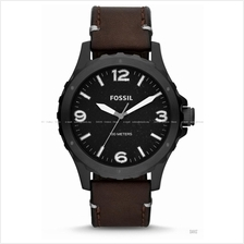 FOSSIL JR1450 Men's Analogue Nate 3-Hand Leather Strap Black Brown