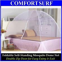 Foldable Self Standing Mosquito Dome Net Double Door with Carrying Bag