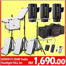 GODOX 3x250w Photography Studio Strobe Photo Flash Light-Trigger-box