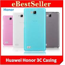 Huawei Honor 3C Crystal Soft Silicon Casing + FREE Screen Protector