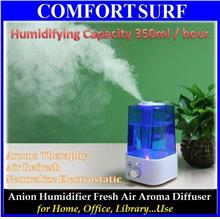 Large Capacity Anion Ultrasound Humidifier Fresh Air Aroma Diffuser