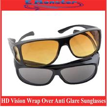 HD Vision Wrap Over Anti Glare Sunglasses Fit Arounds Unisex Glasses