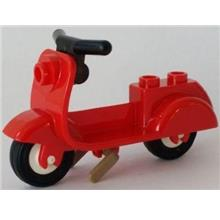 LEGO Loose Parts Red VESPA / Scooter / Bike NEW from 10243