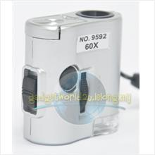 Portable Microscope 60x Magnification with LED/UV Light (Model: 9592)