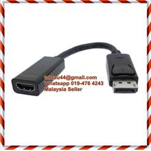 Display Port / Displayport to HDMI Male Female Adapter Converter Cable