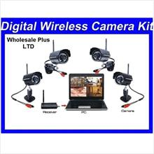 Long Distance 4 Digital Wireless Night Vision Camera Set (WL-24DUSBIR4..