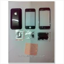 Full housing cover for Apple iPhone 3G 16GB Black .