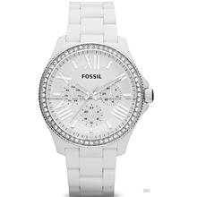 FOSSIL AM4494 Women's Cecile Multifunction Glitz Resin Bracelet White