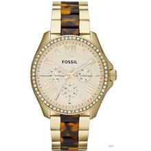 FOSSIL AM4499 Women Cecile Multifunction Glitz Tortoise Bracelet Gold