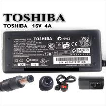 TOSHIBA 15V 4A Laptop Notebook Power Adapter Charger  6.3mm  x  3.0mm