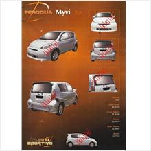 Perodua Myvi Fiber Body Kit R35 Style Full Set [Free LED No Plate+LED