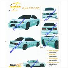 Nissan Cefero A32 VIP Style Full Set Body Kit Fiber Material