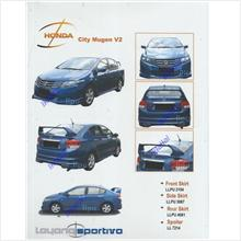 Honda City '09 Mugen V2 Body Kits PU Full Set Free DAD Curtain