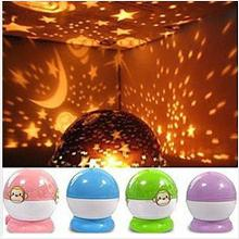 L023 Fantasy moon and the stars rotating projection night lights