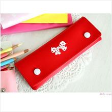PR035_Red Korea Caroline Pencil Case