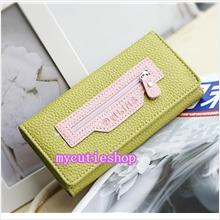 PR066_GrassGreen Dalins Soft Leather Purse