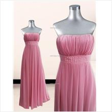 Annual Dinner Long Dress- Pink- YH13006