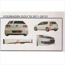 Volkswagen Golf 11-12 TSI Style Full Set Body Kit ABS Skirting+Spoiler