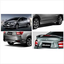 Honda City '12 Modulo Style Full Set Body Kit ABS Skirting + Spoiler