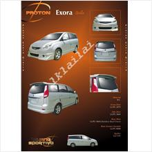 Proton Exora '09-11 Gialla Style Full Set Body Kit PU Skirting+Spoiler