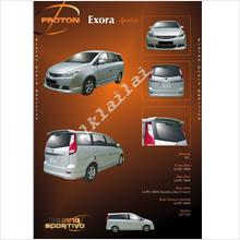 Proton Exora '09-11 Sportivo V1 Style Full Set Body Kit PU Material
