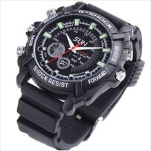 NIGHT VISION SHOCK RESISTANCE HD 4GB WATERPROOF WATCH CAMERA DVR#