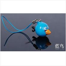 AB002 Blue Angry Bird Mobile Phone Chain