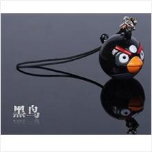AB003 Black Angry Bird Mobile Phone Chain