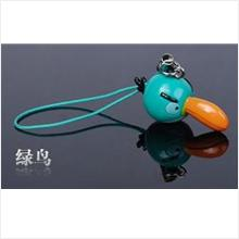 AB005 Green Angry Bird Mobile Phone Chain